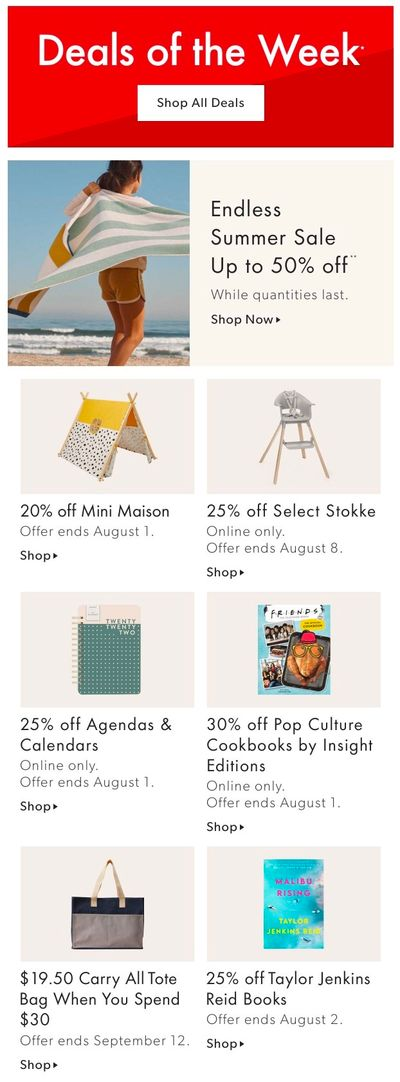 Chapters Indigo Online Deals of the Week July 26 to August 1