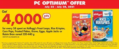 No Frills Ontario Get 4,000 PC Optimum Points For Every $8 Spent On Select Kellogg's Cereal