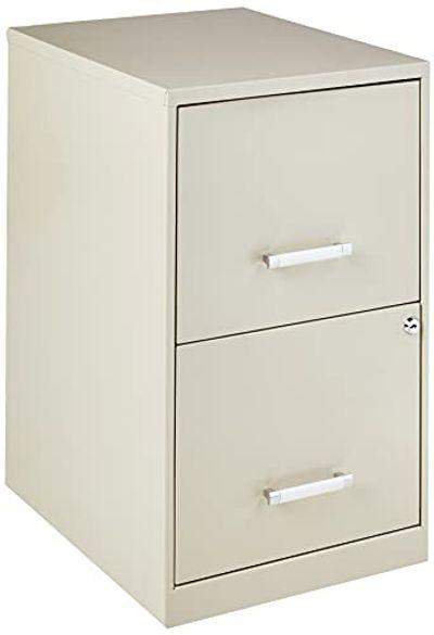 "Lorell 14340 18 Deep 2-Drawer File Cabinet, Putty, 30.5"" H x 18"" W x 18"" D $100.4 (Reg $118.94)"
