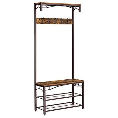 VASAGLE Industrial Coat Rack, 3-in-1 Hall Tree, Entryway Shoe Bench, Large Accent Furniture UHSR45AX $119.99 (Reg $125.99)