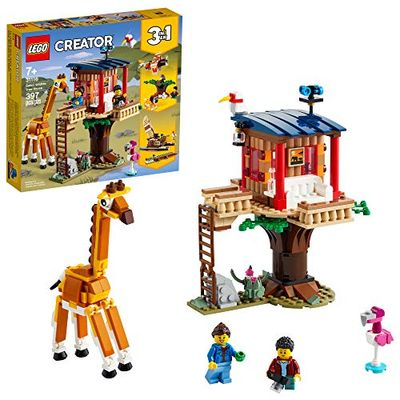 LEGO Creator 3in1 Safari Wildlife Tree House 31116 Building Kit Featuring a House Toy, Biplane Toy and Catamaran Toy; Best Building Sets for Kids Who Love Imaginative Play, New 2021 (397 Pieces) $33.97 (Reg $39.99)