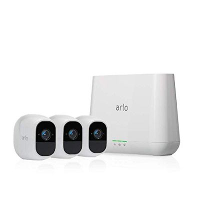Arlo (VMS4330P) Pro 2 - Wireless Home Security Camera System with Siren   Rechargeable, Night Vision, Indoor/Outdoor, 1080p, 2-Way Audio, Wall Mount   Cloud Storage Included   3 Camera Kit $349.99 (Reg $799.99)