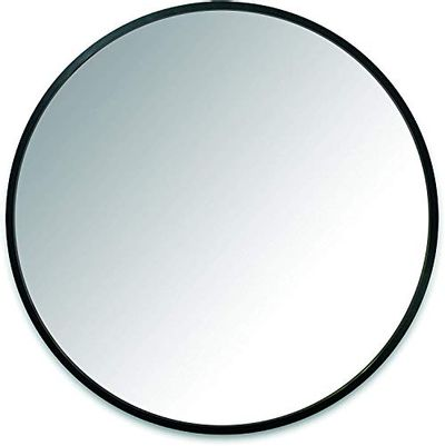 """Umbra Hub 24"""" Round Wall Mirror with Rubber Frame, Modern Room Decor for Entryways, Washrooms, Living Rooms and More, Black $54.97 (Reg $74.99)"""