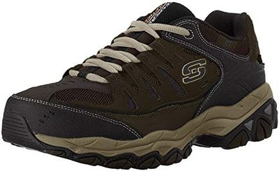Skechers Sport Men's Afterburn Memory Foam Lace-Up Sneaker,Brown/Taupe,14 M US $44.06 (Reg $90.00)