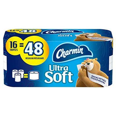 Charmin Ultra Soft Toilet Paper, 16 Triple Rolls Bath Tissue = 48 Regular Rolls $10.97 (Reg $12.97)