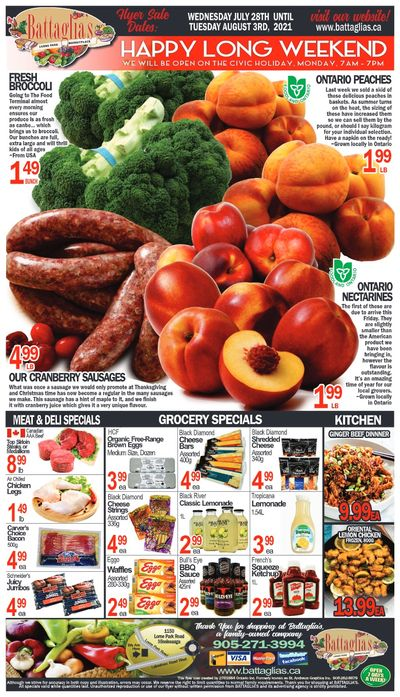 Battaglia's Marketplace Flyer July 28 to August 3