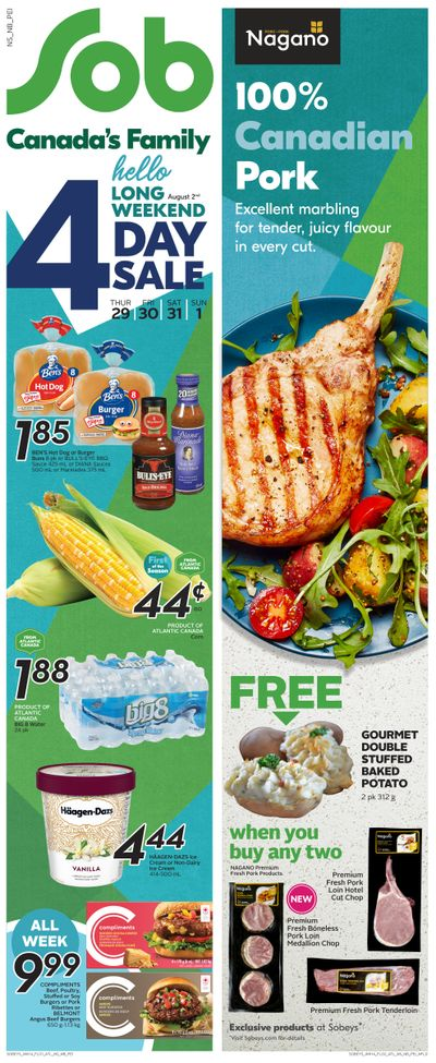 Sobeys (Atlantic) Flyer July 29 to August 4