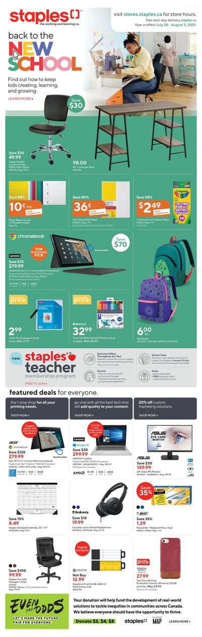 Staples Flyer July 28 to August 3
