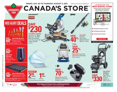 Canadian Tire (ON) Flyer July 30 to August 5