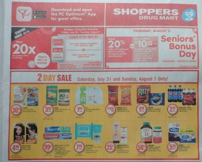 Shoppers Drug Mart Canada: 20x The PC Optimum Points Loadable Offer This Weekend