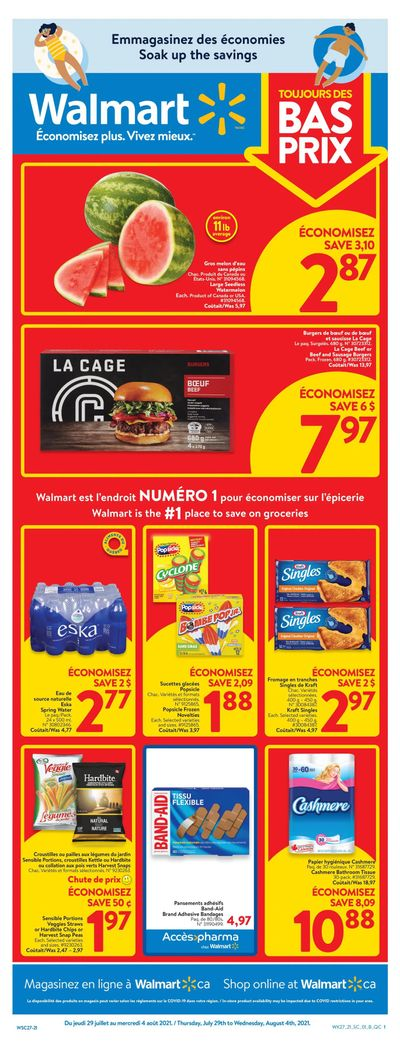 Walmart (QC) Flyer July 29 to August 4