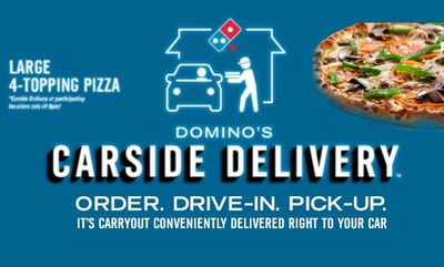 Carside delivery! at Domino's Pizza