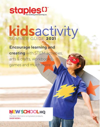 Staples Kids Activity Summer Guide July 28 to August 3