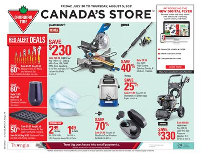 Canadian Tire (Atlantic) Flyer July 30 to August 5