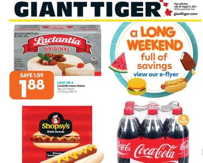 Giant Tiger Canada Flyer Deals July 28th to August 3rd
