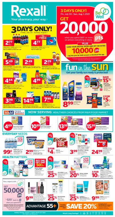 Rexall (AB) Flyer July 30 to August 5
