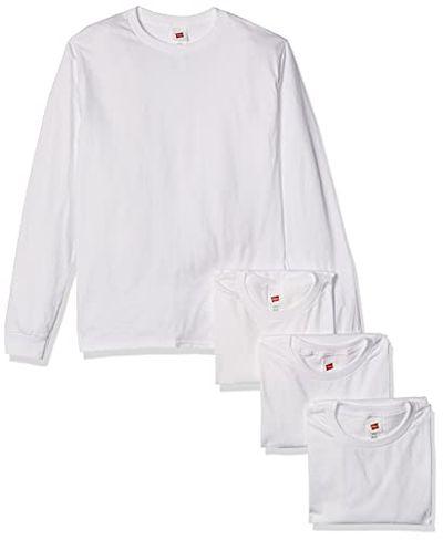 Hanes Men's Long Sleeve Comfort Soft T-Shirt, White, Small (Pack of 4) $22.25 (Reg $30.76)