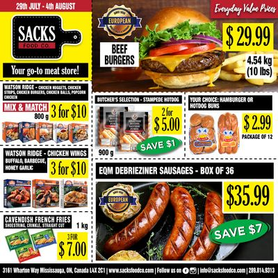 Sacks Food Co. Flyer July 29 to August 4