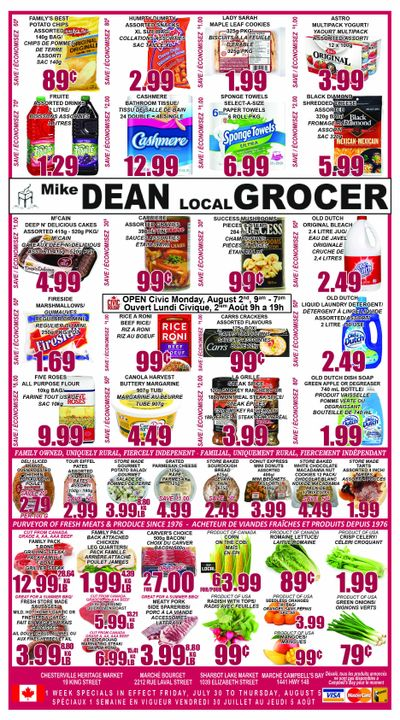 Mike Dean's Super Food Stores Flyer July 30 to August 5