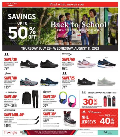 Sport Chek Flyer July 29 to August 11