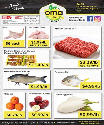 Oma Fresh Foods Flyer July 30 to August 5