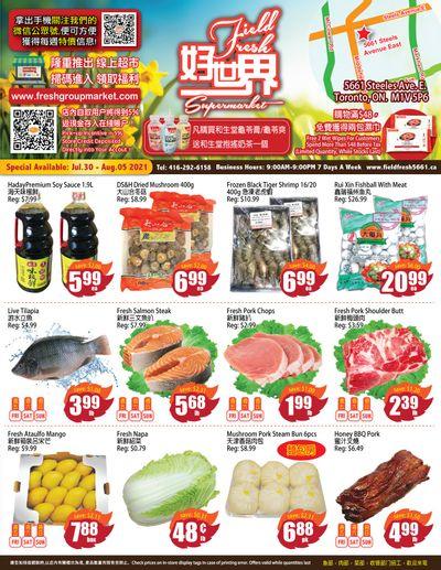 Field Fresh Supermarket Flyer July 30 to August 5