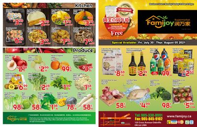 Famijoy Supermarket Flyer July 30 to August 5