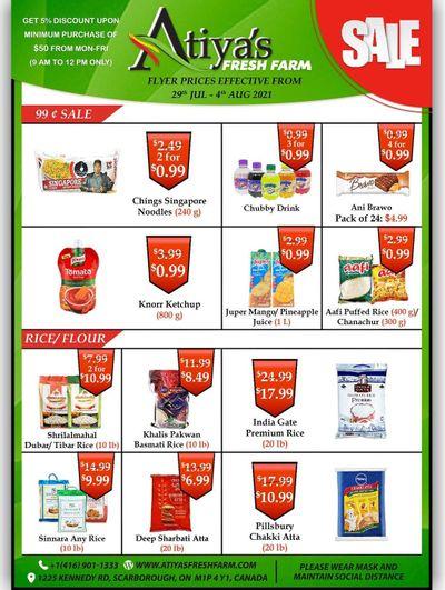 Atiya's Fresh Farm Flyer July 29 to August 4