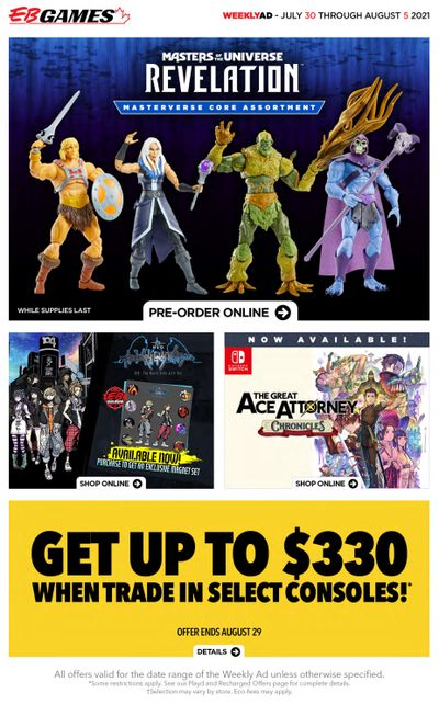 EB Games Flyer July 30 to August 5