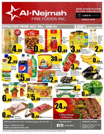 Alnejmah Fine Foods Inc. Flyer July 30 to August 5