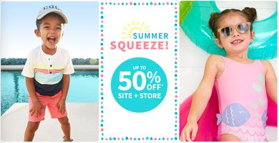 Carter's OshKosh B'gosh Canada Summer Squeeze Sale: Save up to 50% Off Sitewide + More Offers