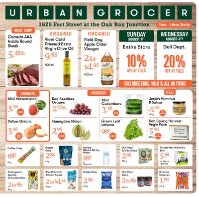 Urban Grocer Flyer July 30 to August 5