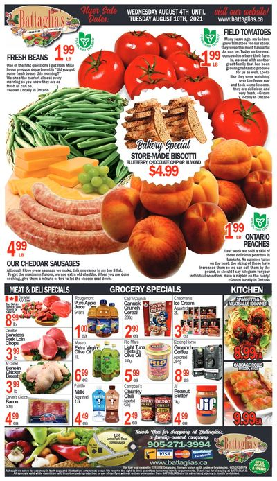 Battaglia's Marketplace Flyer August 4 to 10