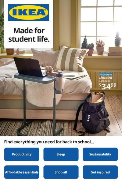 Ikea Made for Student Life Flyer August 5 to 18
