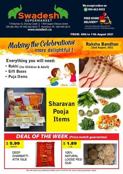 Swadesh Supermarket Flyer August 5 to 11
