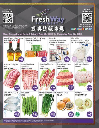 FreshWay Foodmart Flyer August 6 to 12