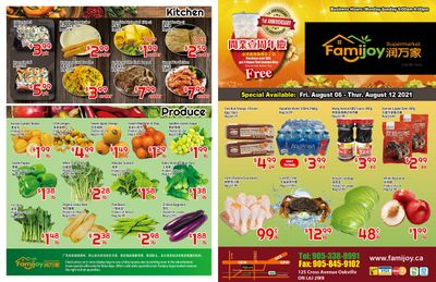 Famijoy Supermarket Flyer August 6 to 12