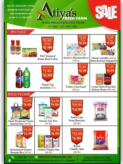 Atiya's Fresh Farm Flyer August 5 to 11