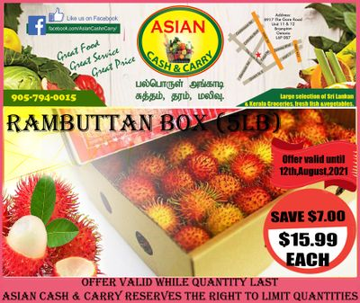 Asian Cash & Carry Flyer August 6 to 12