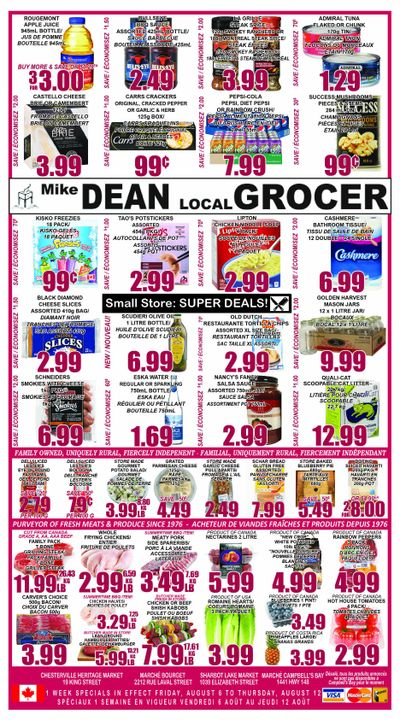 Mike Dean's Super Food Stores Flyer August 6 to 12