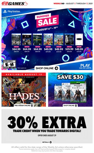 EB Games Flyer August 6 to 12