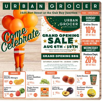 Urban Grocer Flyer August 6 to 12