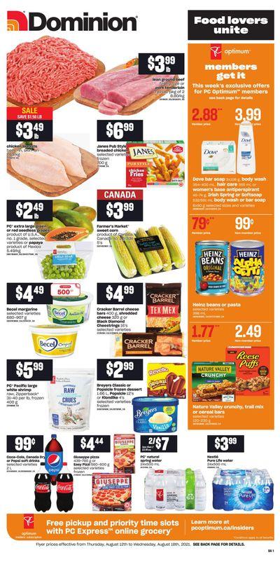 Dominion Flyer August 12 to 18