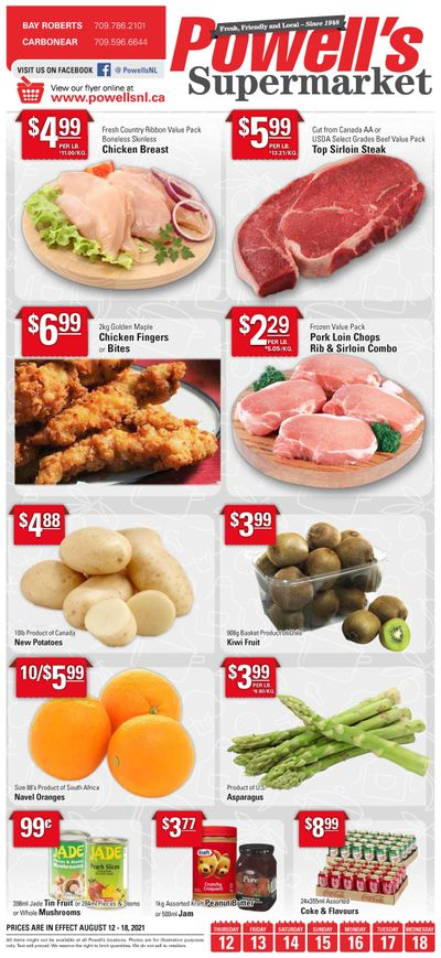 Powell's Supermarket Flyer August 12 to 18