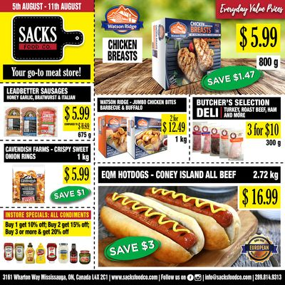 Sacks Food Co. Flyer August 5 to 11