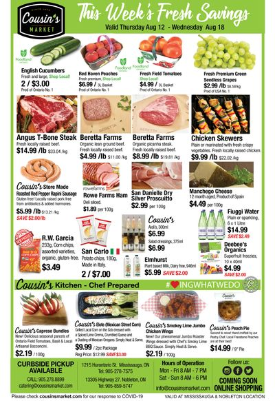 Cousin's Market Flyer August 12 to 18
