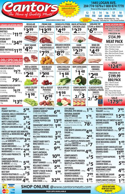 Cantor's Meats Flyer August 12 to 18