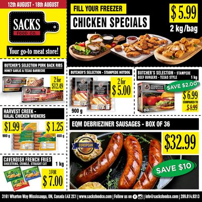 Sacks Food Co. Flyer August 12 to 18