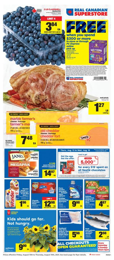 Real Canadian Superstore (West) Flyer August 13 to 19
