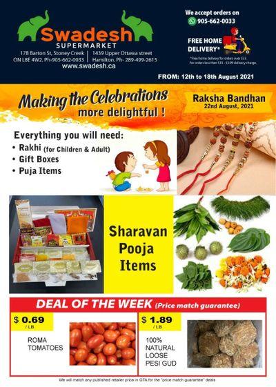 Swadesh Supermarket Flyer August 12 to 18